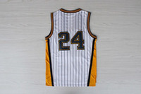 Wholesale 2014 New Pacers Paul George Basketball Jerseys White With Pinstripe Throwback Swingman Jersey Cheap Revolution Basketball Uniforms