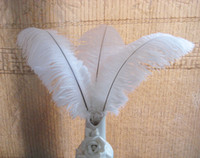 Wholesale Prefect Natural white Ostrich Feather wedding Eiffel Centerpieces Wedding Party Decoration many size to choose