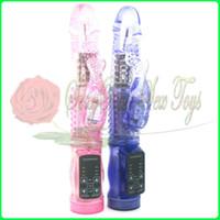 Wholesale 50 OFF Rabbit G Spot Vibrators vibration and rotation massager multi function penis Sex Toy Sex products
