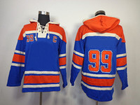 Wholesale 2014 New Oiler Hockey Hoodies Mens Long Sleeve Blue Sweatshirts Ice Hockey Hood Sportswears High Quality Ice Hockey Jerseys Mix Order