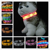 6 colors 4 size Cartoon Pluto LED dog collars LED pet Flashi...
