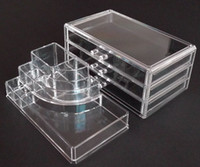 Wholesale New Fashion Clear Acrylic Cosmetic Box Jewellery Makeup Organizer Case SF set Acrylic Organizer Box
