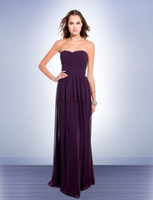 Wholesale Low Price Grape Bridesmaid Dresses Gowns Sweetheart Ruffle Chiffon Prom Formal Dresses Gown Long A Line Bridesmaid Dress