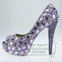 White Mixed Leather Rhinestone Decoration Wedding Bridal Shoes