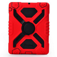 Wholesale Pepkoo Plastic Silicone weather waterproof shockproof Drop resistance Anti Dust case for iPad with sticker with retail box