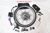 Cheap 36V 750W Motor Electric Bike Conversion Kit 26 inch Rear Wheel with LCD Speed Limit