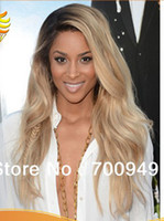 Wholesale Oxette Custom made heavy density two tone human hair wig b ombre lace wig virgin human hair full lace wigs amp lace front wigs