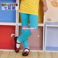 Cheap Colorful pig children's clothing 2013 spring and autumn child trousers baby legging female child skinny pants boot cut jeans