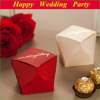 paper box for chocolate - European Style Paper Wedding Boxes for Candy Red Golden Chocolate Gift Boxes Wedding Favors