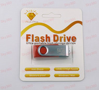 No USB 2.0 Metal 64GB Swivel Custom USB 2.0 Flash Memory Pen Drives Sticks Disks Discs U Pendrives New Gold package 5pcs