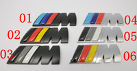 Wholesale Hot Sale MM METAL D M Tech Rear Boot Badge Emblem Car Auto Badges Emblems Auto Logo Sticker With Retail OPP Bag Mix Colour DHL