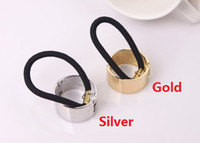 Wholesale Hot Gold Silver Metal Circle Hair Accessories Hair Band Holder Headbands Cuff Wrap Tail Hair Jewelry VHJ