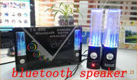 Wholesale Bluetooth Wireless Water Dancing Speakers Black white for iPhone iPad iPod Android Smartphone Tablet Laptop PC Mac mp3 mp4 Devices ret box