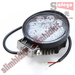 Wholesale 4pcs V V quot inch W Spotlight Floodlight car Tractor Truck Trailer SUV Tank boat X4 WD Jeep Offroads driving LED work light bulbs