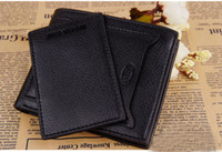 1PCS Black Leather Wallet Outside ID Credit Card Holder #240...
