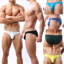 Wholesale Details about Sexy Men s Super Soft Mini Bikinis Short Underwear Bikini Briefs S M L XL COLOR