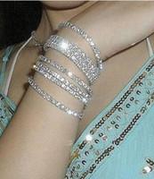 Wholesale fm251 Jewelry diamond drill super flash really drill single row full stretch the bride wedding bangle bracelet