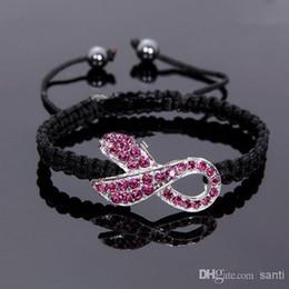 Ruban rose sein en Ligne-Cadeau chaud de cristal de ruban rose de ruban de conscience de conscience de cancer de sein