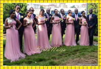 2014 Pink Tulle Long Cheap Bridesmaid Dresses Under 140$ Shi...