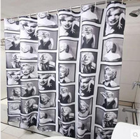 Wholesale Hot Sale Upscale Marilyn Monroe polyester printed shower curtain With shower curtain ring cm soft and waterproof