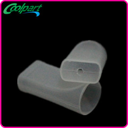 Ego WTest Drip Tips Disposable Atomizer Caps Transparent Plastic Mouthpiece Cover With Flavor Testing Hole For eGo-C eGo-T eGo-W eGo-V eGo-K