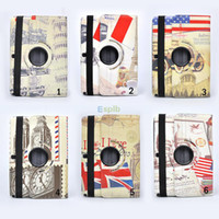 10.1'' P600 folio leather cover - 360 Degree Rotary Rotating Case Retro England Style Folio Stand leather Case Cover Wake UP for Samsung Galaxy Note Edition P600