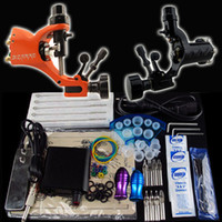 rotary tattoo kit - Tattoo Kit Top Rotary Tattoo Machine Guns Power Supply Foot Pedal Needle Grip Tip