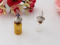 Wholesale 5 x11MM Mini Vials With Metal Corks glass bottles DIY Bottles cork stopper mini miniature
