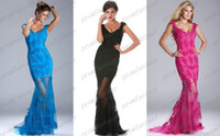 2014 Nude Sheer Sexy Mermaid Prom Evening Dresses Cheap Unde...