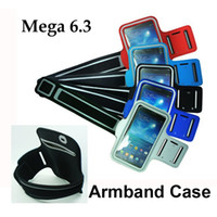 For Samsung Leather For Christmas Sports Running Armband Case For Samsung Galaxy Mega 6.3 i9200 with Key Holder Earphone Hole Gym Armlet Cover Free DHL