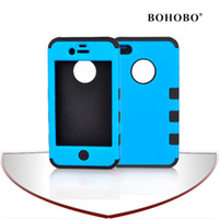 Wholesale Mobile Phone Case For Iphone4S Silicone and PC Multifunctional and Colorful Case