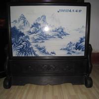 Fire to manufacture  porcelain - China ROC porcelain master wangbu landscape painting porcelain plaque NR