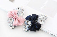 Barrettes & Clips Women's Any occasion Fashion Pearl Rhinestone Crystal Bow Hair Pin Hair Clip Hair Accessories VHJ-044