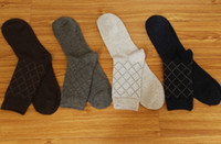 Wholesale winter business wool socks mens thicken woolen socks solid color
