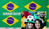 Wholesale Brazilian flag face stickers flag stickers World Cup in Brazil fans cheer face to square stickers