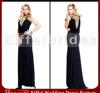 Wholesale 2014 Sexy Black Evening Dress Porn with A Romantic Shiny Beaded Scoop Neckline and Glamorous Beaded Backless Mermaid Formal Pageant Dresses