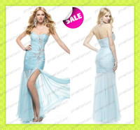 2014 Sexy Crystals Beaded Mermaid Chiffon Prom Pageant Dress...