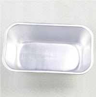 Wholesale Rectangular Pudding Molds Chocolate Bowl Bread Sliced Aluminum Cake Stencil Baking Abrasives Tools A03