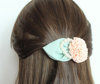 Wholesale Fashion Pearl Rose Flower Hair Clip Fabric Flower Hair Pins Hair Accessories VHJ