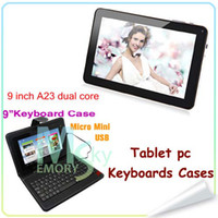 Wholesale 9 inch Dual Camera Allwinner A23 Dual Core T900 N900 Tablet PC Keyboard Cases Android Ghz Capacitive Screen MB GB