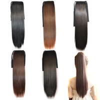 Wholesale 1pcs inch cute long straight synthetic hair ponytails extension hairpieces colors can be choose