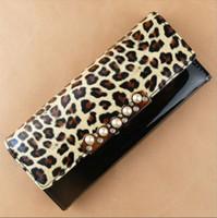 Wholesale Details about New Fashion Women s Ladies Gloss Leopard Print Long clutch Purse Wallet
