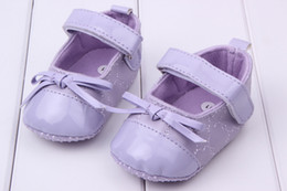 Wholesale Baby Toddler shoes Brightly colored female baby toddler shoes Baby fashion PU prewalker pairs KTJ X0084