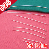 Wholesale Min piece Sterling Silver mm long Head Pins amp Needles Jewelry Parts and Accessories for DIY Making