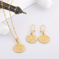 Wholesale Muslim characteristics gold jewelry round pendant gold plated necklace G660
