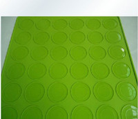 Wholesale Macaron Mold Pad Mat Green Silicone Round Holes Nonstick Chocolate Macaron Mould Mats Oven Baking Tools