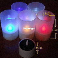 Wholesale 5pcs Solar lights led solar candle lamp small night light decoration lamp artificial candle small gift