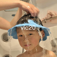 Wholesale Soft Baby Kid Child safe Shampoo Bath Shower Cap Hat Wash Hair Eye Shield