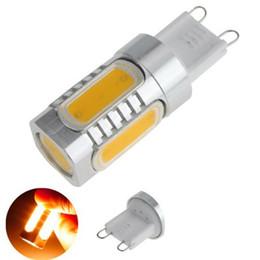 Promotion ampoule g9 conduit Haute puissance LED 110v - 240v aluminium G9 7w COB Chip LED SMD chaud / Pur / ampoule froide White Light Lamp 700lm 360 degrés Ampoule LED