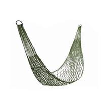 Wholesale durable outdoor army green nylon rope hammocks portable nylon mesh hammocks